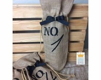 Table Number Wine Bags, Wine Bags, Burlap Wine Bags, Number Burlap Bags, Table Wine Bags, Wedding Wine Bags, Personalized Wine Bag