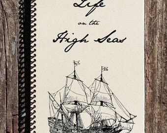 SALE - High Seas Journal - Pirate Journal - Pirate Notebook