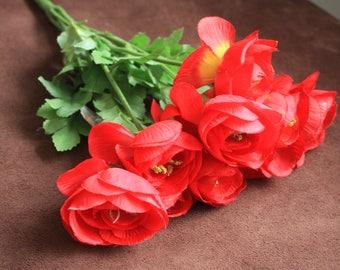 Red Ranunculus Bush, DIY Bouquet, Flower Arrangement, Wedding Bouquet