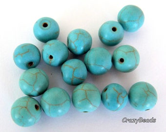 15 imitation Emerald 10mm glass beads