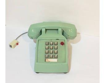 Vintage Mint Green Touchtone Secretary Telephone
