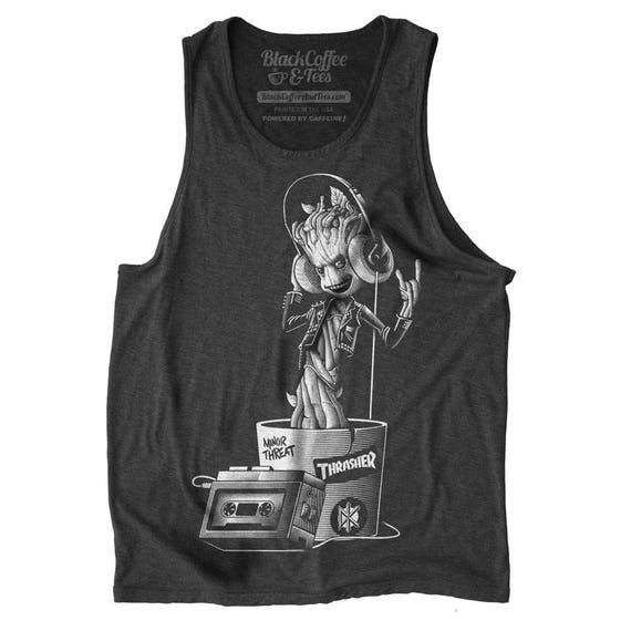 Groot Shirt - I am Groot Mens Tank Top - Guardians of the Galaxy Shirt -  Baby Groot Hand Screen Printed on a Mens Tank Top -Mens Groot Tank