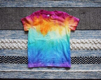 Rainbow Tie Dye Toddler Tee - Rainbow Shirt - Rainbow Toddler Clothes - Toddler TShirt - Toddler Clothing - Rainbow Baby - Rainbow Tie Dye