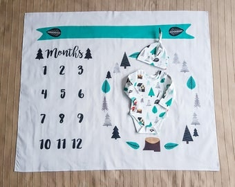 Baby Milestone Blanket Months Monthly Growth Swaddle