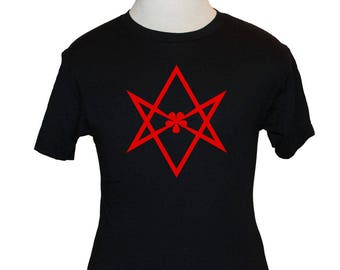 Thelema T-Shirt - Unicursal Hexagram - Choose Color (S M L XL) - Thelemite Aleister Crowley