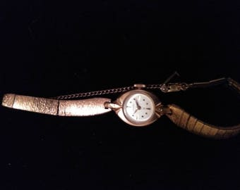 Ladies Watches-Vintage Wrist Watches-Hamilton Watches-Ladies Wrist Watches-10K Gold plated