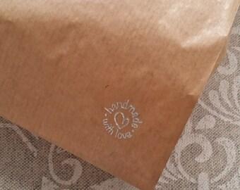 10 Sachettini Card 12 x 24 cm with handmade inscription with Love