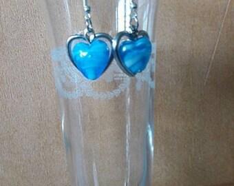 """Short """"ocean heart"""" earrings"""