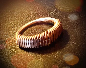 Inspirals Handcrafted Copper Wrapped Ring-FREE SHIPPING within the U.S