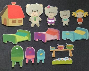 Choose Your Goldilocks And The Three Bears Felt Board Story #3 // Flannel Board // Imagination // Children // Classic Story //