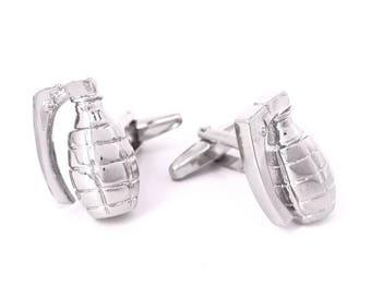 Silver Grenade Cufflinks, Da bomb