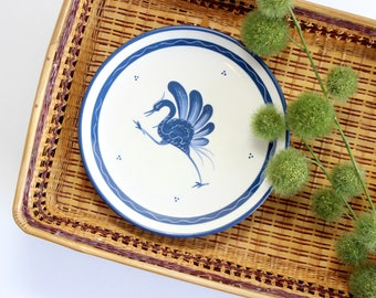 Hand Painted Wild Bird Plate, Bulle Dubuis Bosshard Collectible, Wall Hanging
