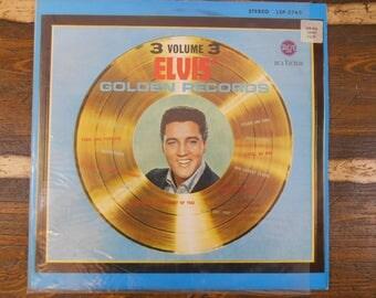 Elvis Golden Records 3 Volume 3 LSP 2765 Vinyl LP Record Vintage Vinyl Record LP 1963