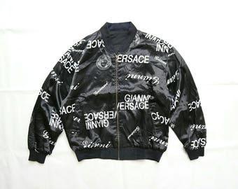 Vintage Versace Jeans Couture Reversible Silk Bomber jacket. Not hermes chanel fendi