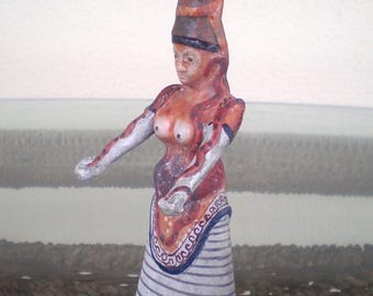 For Sale Minoan Art Small Snake Goddess - Palace of Knossos - Symbol of Fertility