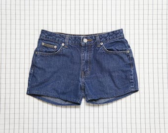 90's cK Jeans Shorts, Calvin Klein Low Rise Shorts, Denim Shorts, Soft Grunge, Minimalist, Aesthetic, Tumblr,  XS/1
