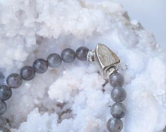 Pyrite bracelet, labradorite bracelet, gemstone stretch bracelet, pyrite boho bracelet, bohemian gemstone bracelet