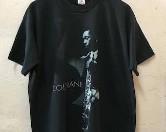 "Vintage 1991 John Coltrane ""American Jazz Saxophonist"" Tshirt"