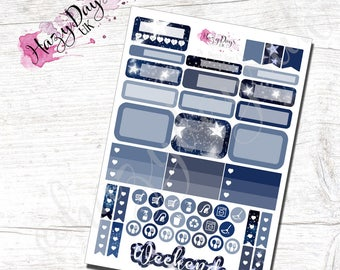 Sketch Stars - Hand Drawn Stars Functional Planner Stickers for Horizontal, Vertical ECLP, BuJo, TN, Kikki.K Filofax, Happy Planner etc