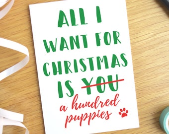 Funny Dog Christmas Card for Boyfriend, Funny Boyfriend Christmas Card Funny, Dog Christmas Card Funny, Funny Husband Christmas Card, A6