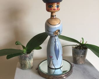 Adorable handmade wooden Lady