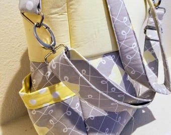 Diaper Bag Gray/yellow/white