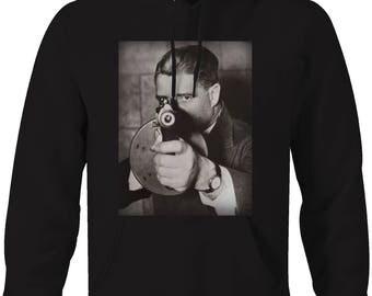 Tommy Gun Gangster Mobster Thug Vintage Street Gang Suit Hooded Sweatshirt- 5242