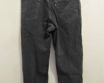 Men's Vintage 90's,Faded Black RELAXED Fit,CANADIAN Made Jeans By LEVI'S 550.34x30
