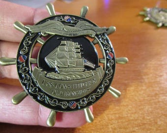"USS Constitution "" Old Ironsides "" Navy Chief Navy Pride This Ship Has Never failed Us Challenge Coin"