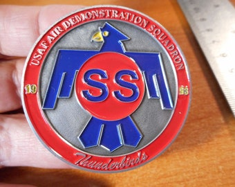 2014 USAF Thunderbirds Air Demonstration SQ Sequestered Shutdown Challenge Coin