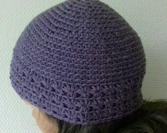 Crochet Beanie: the star. 100% wool