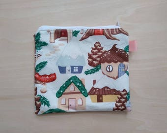 Gnome Home Neighborhood Zippered Notions Pouch Coin Purse! One of a Kind!