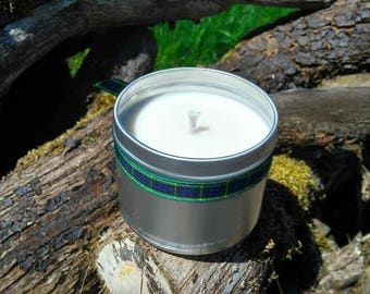Juniper Scented Natural Soy Wax Handmade in Scotland Tin Candle