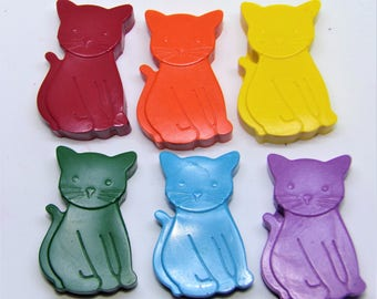 CRAYONS KITTENS - Cats - Non-Toxic - Wax - Party - Wedding - Gifts - Stocking Fillers - Colouring - Birthday - Christmas - Favour