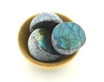 Flashy labradorite seer stone,  stunning  flash sliced 'dragon egg' crystal, ema egg, one piece