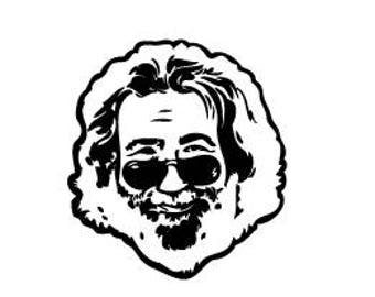 Jerry black and white sticker