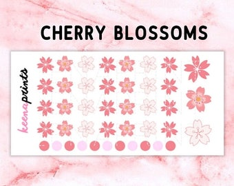 15% OFF A022 | Cherry blossoms Stickers - Daily Planner Stickers, Diary Stickers, Journal Stickers, Scrapbook stickers