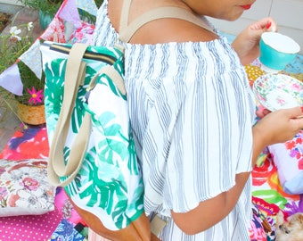 Market Tote- Palm Perfect