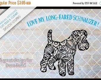 ON SALE Zentangle Schnauzer Dog, Cutting files Svg-Dxf-Eps-Png.  These can be used as stencils or vinyl decals