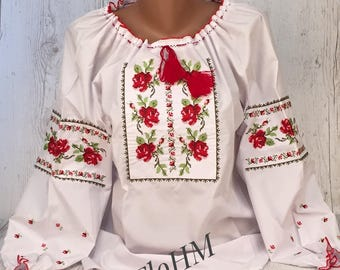 Ukrainian Embroidered Blouse Vyshyvanka, Folk Blouse