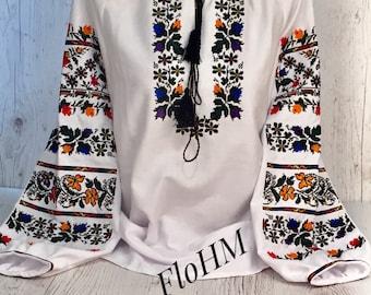 Embroidered Blouse Vyshyvanka , Ukrainian Blouse , Folk Style