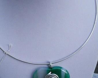 Onyx agate pendant Choker necklace