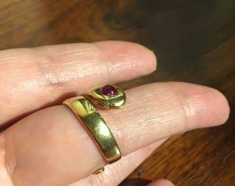 Art Deco French Snake Ring