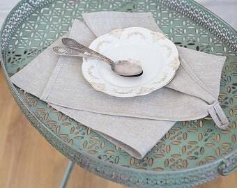 Natural Linen Towel, Linen tea towel, Kitchen linen towel, Dish towel, Hand towel, Grey linen towel, Natural linen, Flax towel