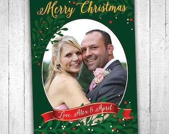 Printable Custom Merry Christmas Photo Card