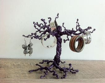 Jewelry tree stand, ring tree holder, gothic home decor, tree of life sculpture, wire tree sculpture, jewelry stand, jewelry tree, wire art