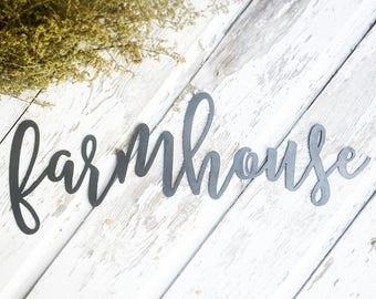 Farmhouse Metal Sign - Metal Wall Art - Farmhouse Sign - Metal Words - Farmhouse Decor - Metal Signs - Housewarming Gift - Farm - Script