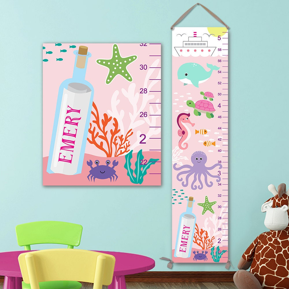 Ocean growth chart personalized canvas growth chart under the ocean growth chart personalized canvas growth chart under the sea nursery ocean height chart under the sea growth chart gc4002p nvjuhfo Choice Image