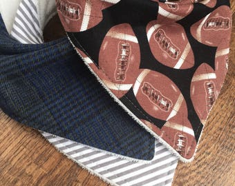 Football bib Baby bib boy Bandana Bib boy bib boy shower gift baby shower Organic Bamboo Terry Cloth Bib baby boy bib baby gift set