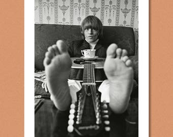 THE ROLLING STONES - Brian Jones at home, London 1965 --- Giclée/Photo print